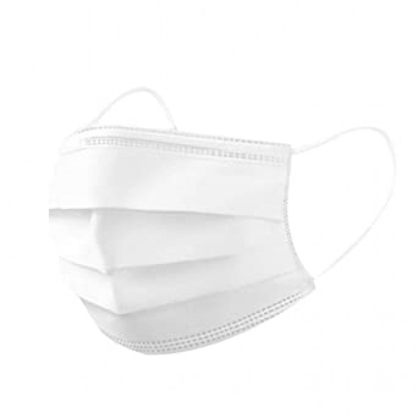 Kids White Surgical Face Mask Single