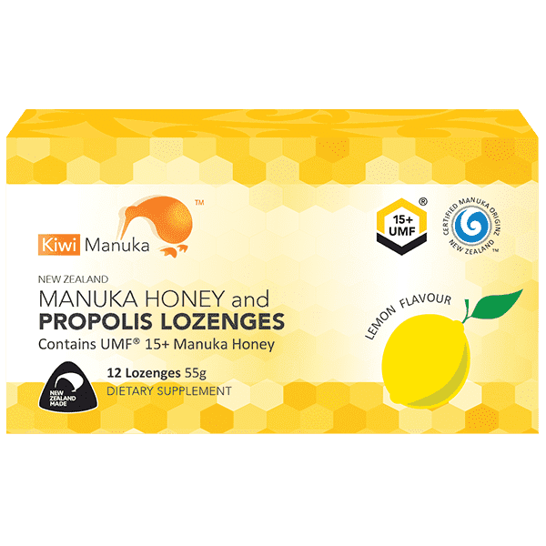 Kiwi Manuka Honey 12 Lozenges - Lemon