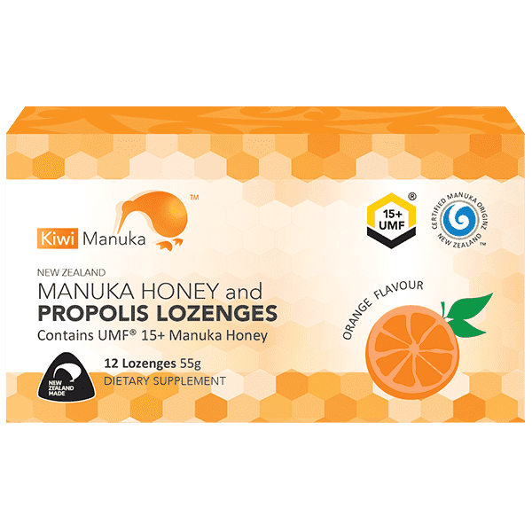 Kiwi Manuka Honey 12 Lozenges - Orange