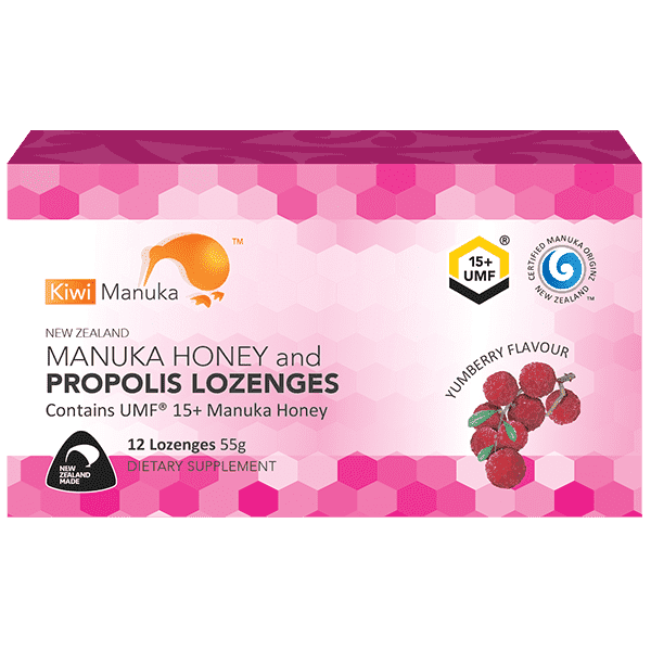 Kiwi Manuka Honey 12 Lozenges - Yumberry