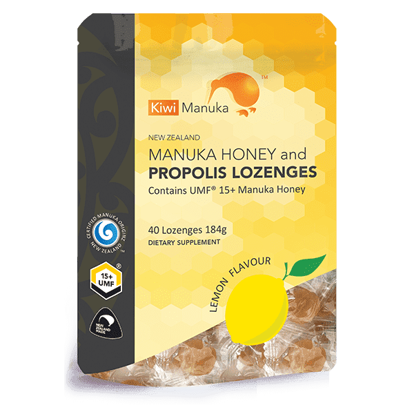Kiwi Manuka Honey 40 Lozenges - Lemon