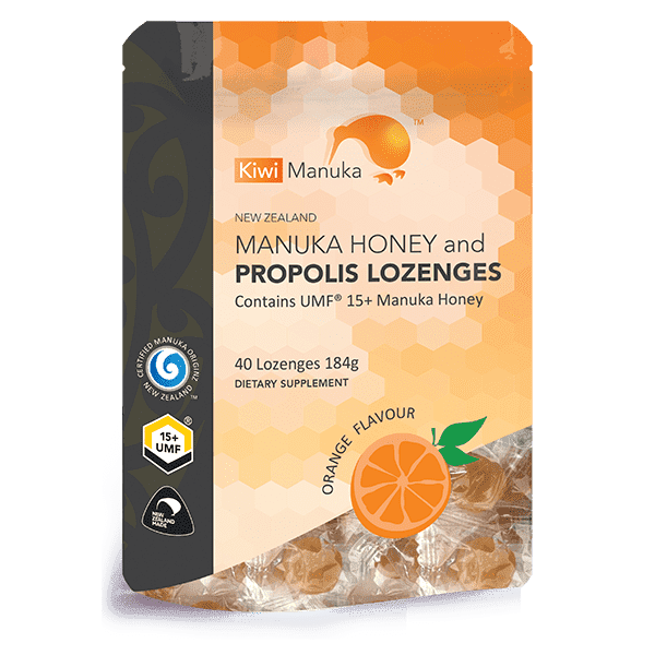 Kiwi Manuka Honey 40 Lozenges - Orange