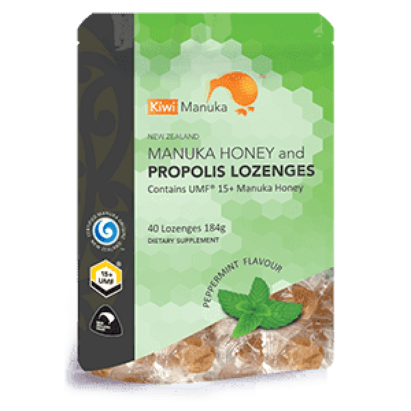 Kiwi Manuka Honey 40 Lozenges - Peppermint