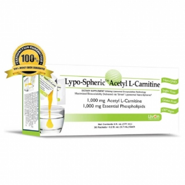 Livon Labs Lypo-Spheric Acetyl L-Carnitine 30 Pack