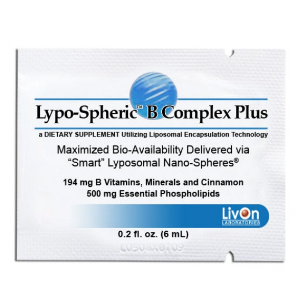 Livon Labs Lypo-Spheric B Complex Plus 30 Pack