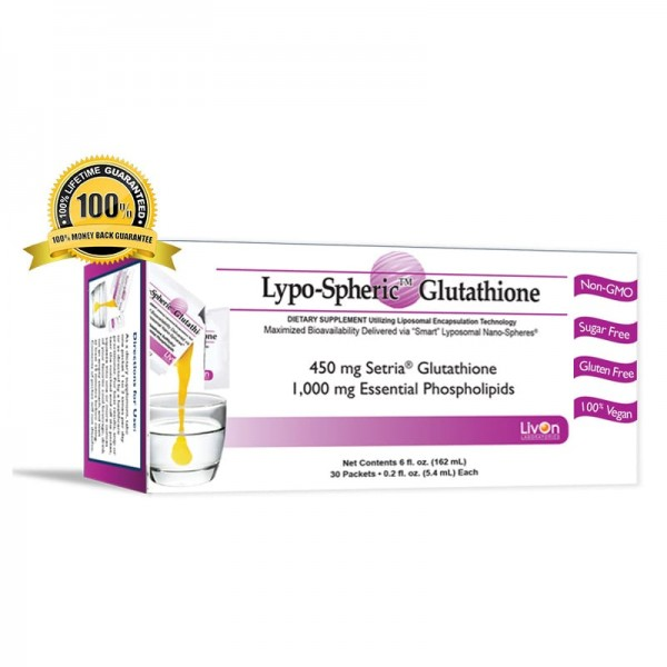 Livon Labs Lypo-Spheric GSH Glutathione 30 Pack