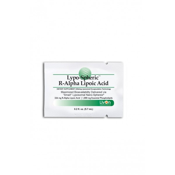 Livon Labs Lypo-Spheric R-Alpha Lipoic Acid 30 Pack