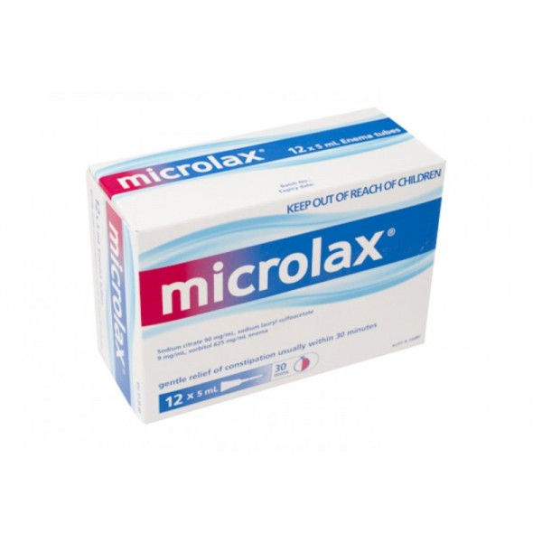 Microlax Enema 12 x 5 mL