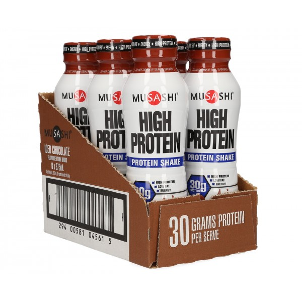 Musashi Protein Drink Iced Chocolate 375ml 6 Pk