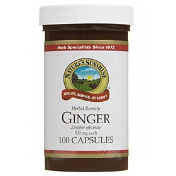 Nature's Sunshine Ginger 100 Capsules