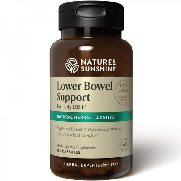 Nature's Sunshine Lower Bowel Support LBS ll 100 Capsules