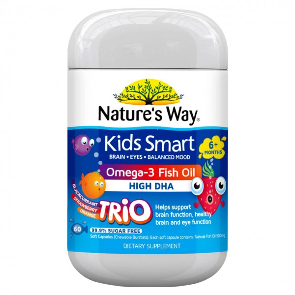 Nature's Way Kids Smart Omega 3 Fish Oil Trio 60s