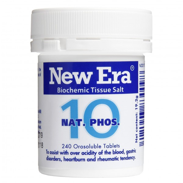 New Era No.10 Nat. Phos. 240 Tablets