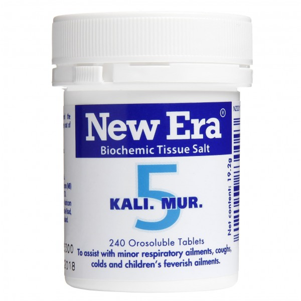 New Era No.5 Kali. Mur. 240 Tablets