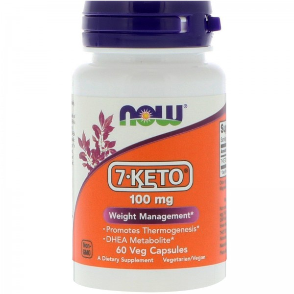 Now Foods 7-Keto DHEA 100mg 60 Capsules