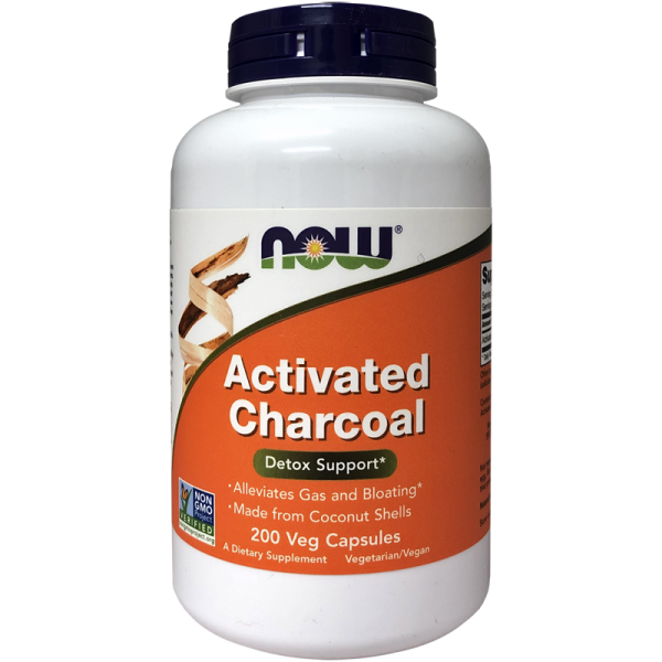Now Foods Activated Charcoal 200 Capsules