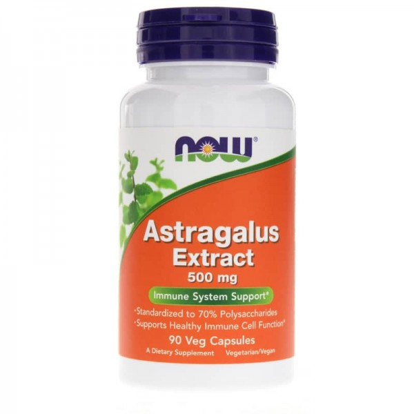 Now Foods Astragalus Extract 500mg 90 Capsules