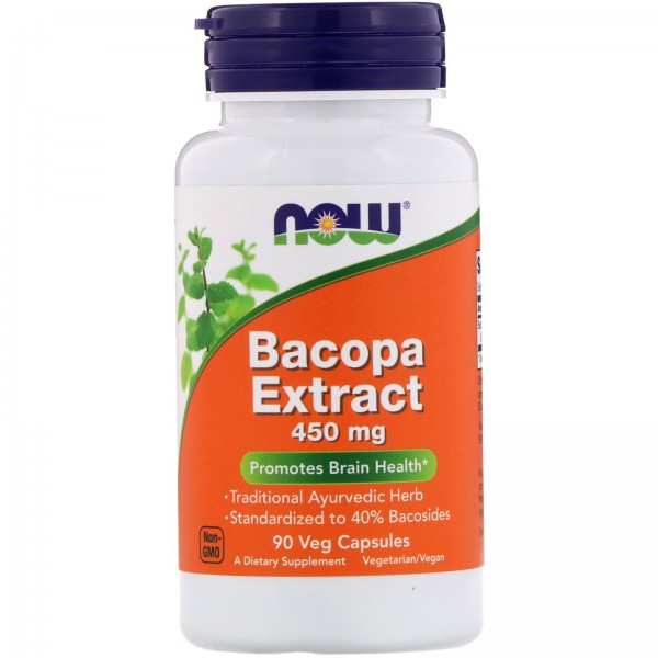 Now Foods Bacopa Extract 450mg 90 Capsules