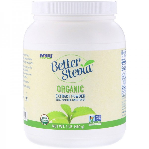 Now Foods BetterStevia Extract Organic Powder 454g