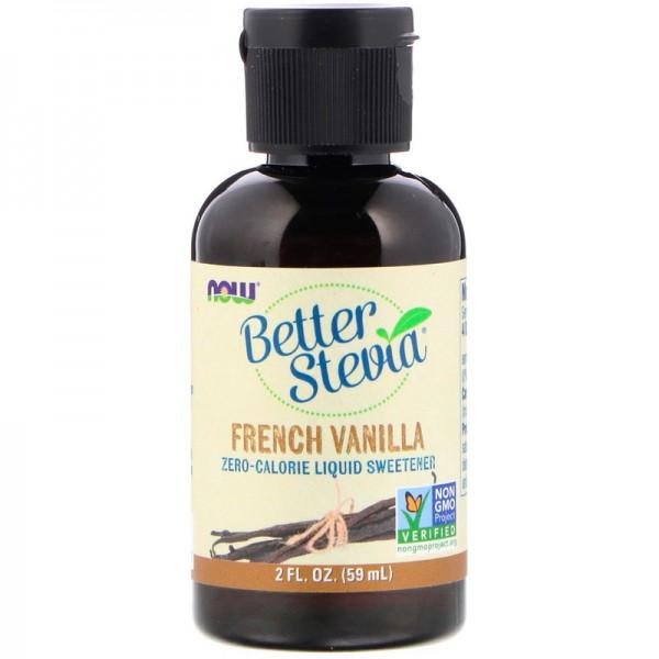 Now Foods BetterStevia French Vanilla Liquid Sweeteners 59ml