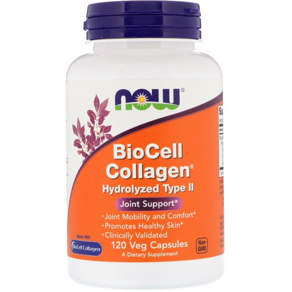 Now Foods BioCell Collagen Hydrolyzed Type 2 120 Capsules