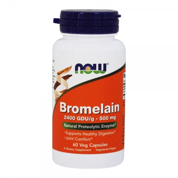 Now Foods Bromelain 500mg 60 Capsules