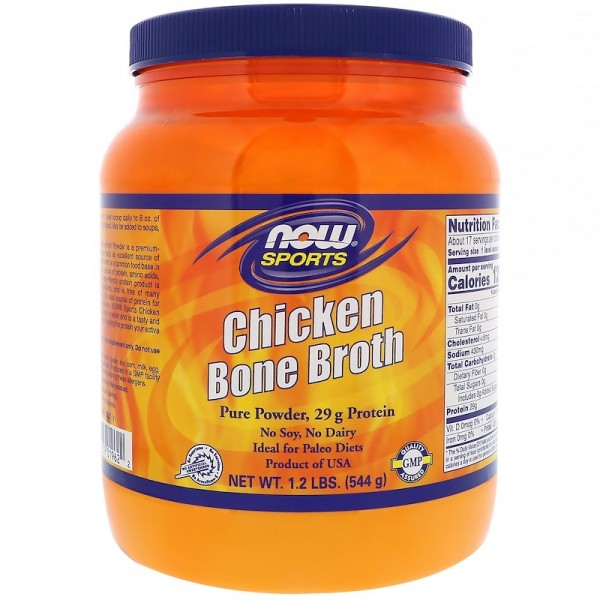 Now Foods Chicken Bone Broth Protein Powder 544g