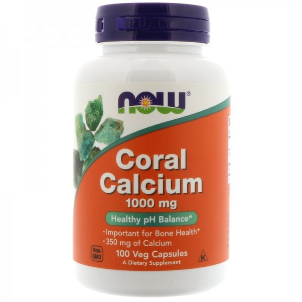 Now Foods Coral Calcium 1000mg 100 Capsules