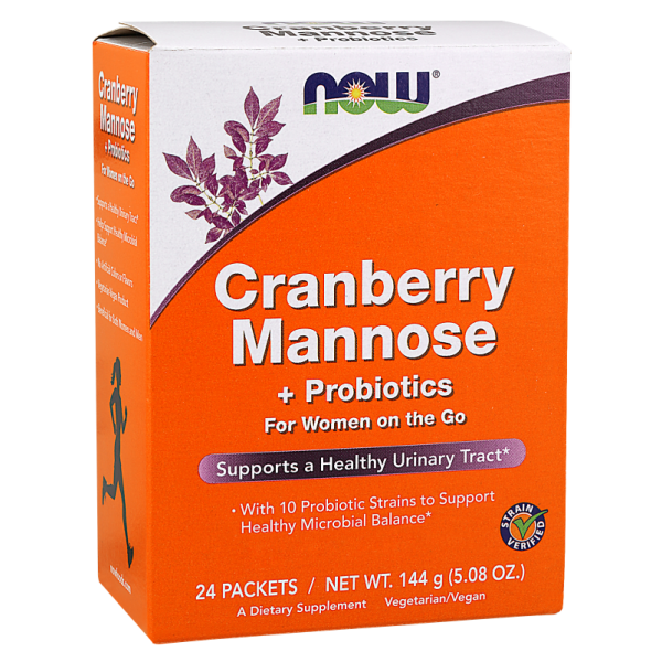 Now Foods Cranberry Mannose plus Probiotics 24 Packets