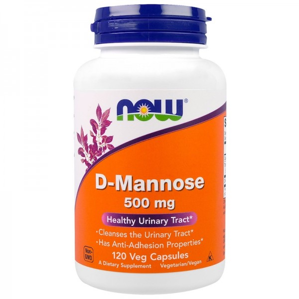 Now Foods D-Mannose 120 Capsules