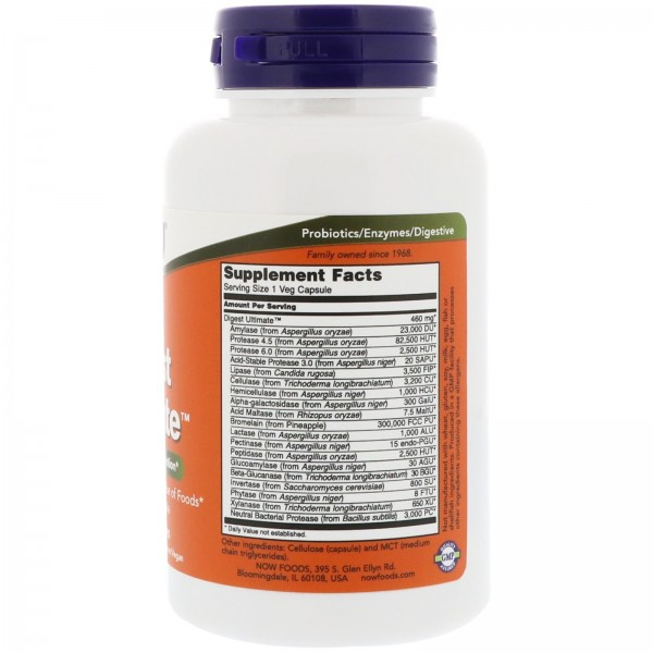 Now Foods Digest Ultimate 60 Capsules