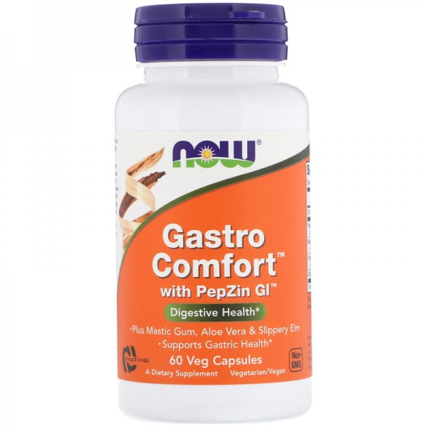Now Foods Gastro Comfort with PepZin GI 60 Capsules