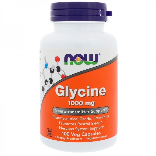 Now Foods Glycine 1000mg 100 Capsules