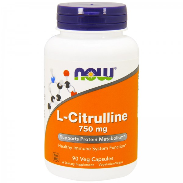 Now Foods L-Citrulline 750mg 90 Capsules