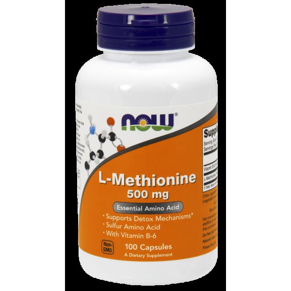 Now Foods L-Methionine 500mg 100 Capsules