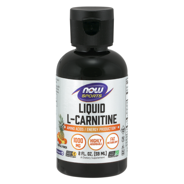 Now Foods Liquid L-Carnitine Tropical Punch 1000mg 59ml