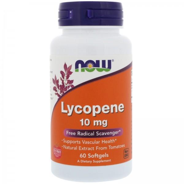 Now Foods Lycopene 10mg 60 Softgels