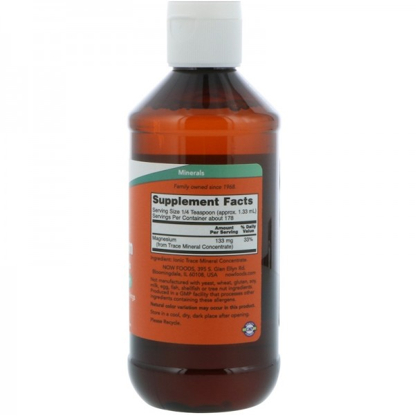 Now Foods Magnesium Liquid with Trace Minerals 237ml