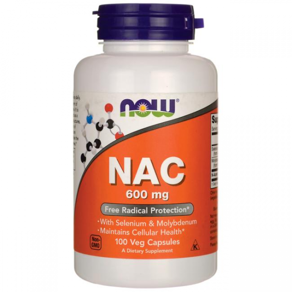 Now Foods NAC 600mg 100 Capsules