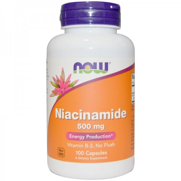 Now Foods Niacinamide 500mg 100 Capsules