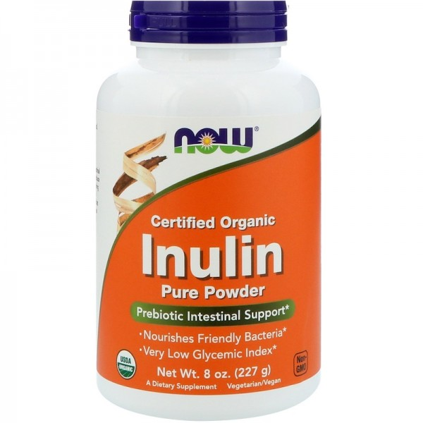 Now Foods Organic Inulin Prebiotic Powder 227g