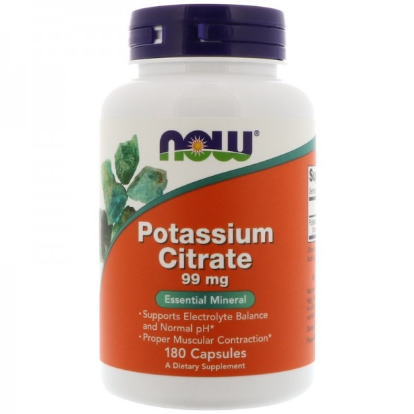 Now Foods Potassium Citrate 99mg 180 Capsules