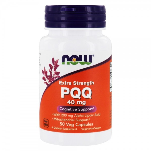 Now Foods PQQ Extra Strength 40mg 50 Capsules