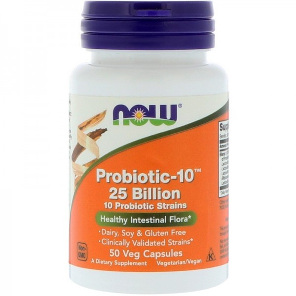 Now Foods Probiotic-10 25 Billion 50 Capsules