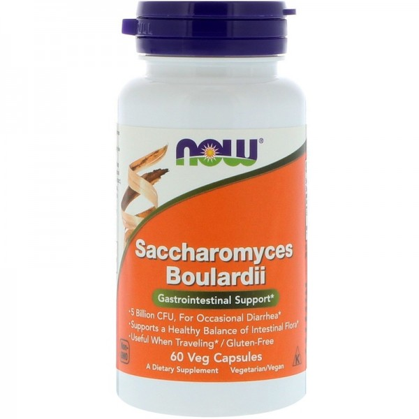 Now Foods Saccharomyces Boulardii 60 Capsules