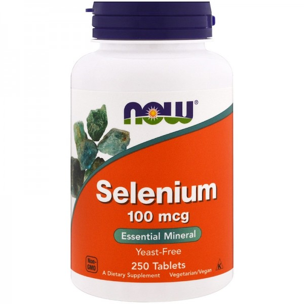 Now Foods Selenium 100mcg 100 Tablets