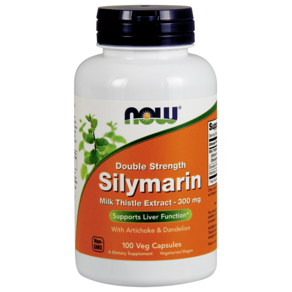Now Foods Silymarin Milk Thistle Double Strength 100 Capsules