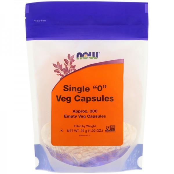 Now Foods Single 0 Empty Veggie Capsules 300 Capsules