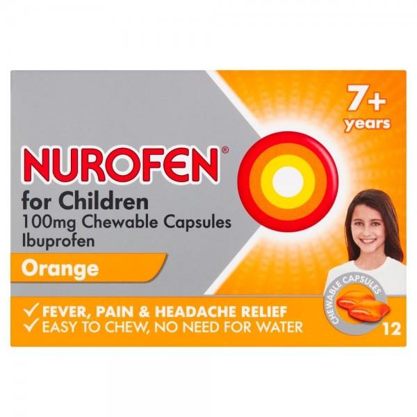 Nurofen For Children 7+ Chewable Orange