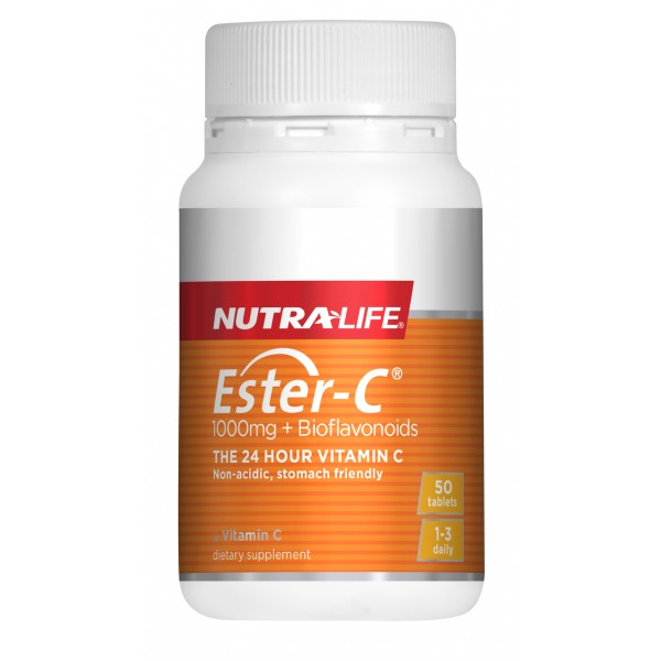 Nutralife Ester C 1000mg + Bioflavonoids 50 Tablets